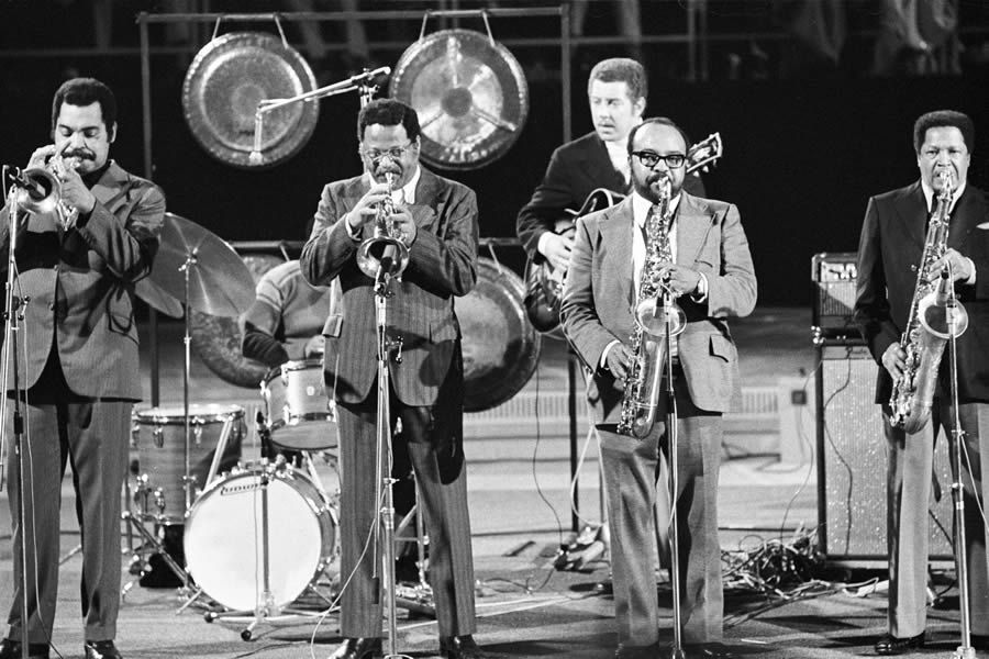 Art Farmer, Clark Terry, Kenny Burrell, James Moody, Illinois Jacquet